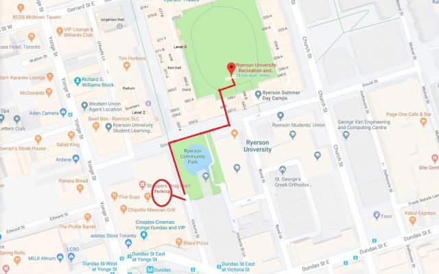 Ryerson parking map